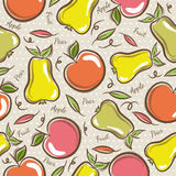 Seamless Patterns with Fruits Royalty Free Stock Images