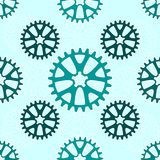 Seamless patterns from gears. Vector illustration Royalty Free Stock Photography