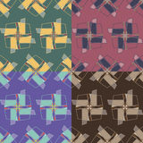 Seamless patterns with geometric elements Royalty Free Stock Images