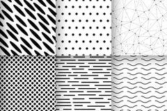 Seamless patterns geometric minimalist vector royalty free illustration