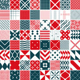 Seamless 64 patterns Stock Images