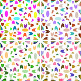Seamless patterns from geometric shapes Royalty Free Stock Images