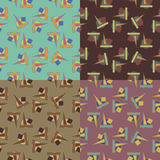 Seamless patterns with geometric shapes Stock Photos