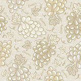 Seamless Patterns with grapes Royalty Free Stock Photos