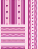 Seamless patterns with hearts. Royalty Free Stock Image