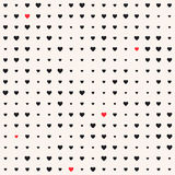 Seamless patterns with hearts. Valentine`s day background Royalty Free Stock Images