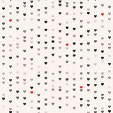 Seamless patterns with hearts. Valentine`s day background Royalty Free Stock Photography