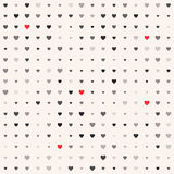 Seamless patterns with hearts. Valentine`s day background Stock Photography