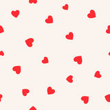 Seamless patterns with hearts. Valentine`s day background Stock Images