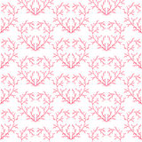 Seamless patterns with hearts. Vector decorative collection of hearts Royalty Free Stock Photos