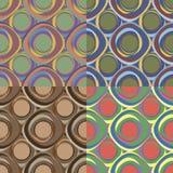 Seamless patterns with irregular circles Stock Images