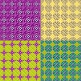 Seamless patterns irregular geometric shapes Royalty Free Stock Photos
