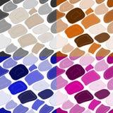 Seamless patterns irregular geometric shapes Royalty Free Stock Image