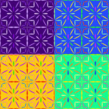Seamless patterns irregular geometric shapes Royalty Free Stock Images