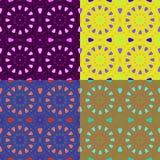 Seamless patterns irregular geometric shapes Stock Photography