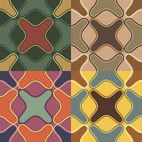 Seamless patterns with irregular geometric shapes Stock Photography