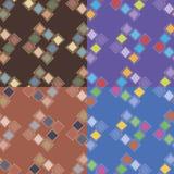 Seamless patterns with irregular squares Stock Photo