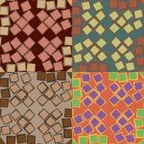 Seamless patterns with irregular squares Royalty Free Stock Image