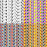 Seamless patterns with malformed triangles Stock Photo