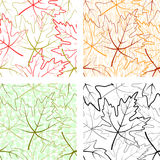Seamless Patterns, Maple Leaves Royalty Free Stock Images