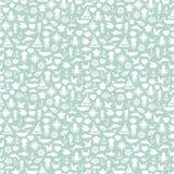 Seamless patterns of marine symbols. Vector Stock Photo