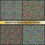 Seamless patterns in memphis style. 80s 90s style. Vector colorful illustration stock illustration