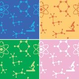Seamless patterns - vector molecules - set Royalty Free Stock Image