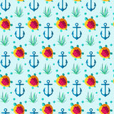 Seamless patterns nautical elements Royalty Free Stock Photography