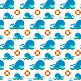 Seamless patterns nautical elements Stock Photos