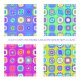 Seamless patterns in neon colors vector illustration