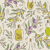 Seamless Patterns with olive Stock Photos