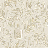 Seamless Patterns with olive Stock Images