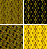 Seamless patterns with optical illusion effect. Royalty Free Stock Images