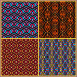 Seamless patterns in oriental style Stock Photo