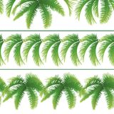Seamless patterns, palm leaves Stock Photography