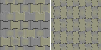 Seamless patterns of pavement Royalty Free Stock Images