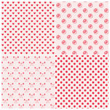 Seamless patterns in pink colors stock illustration