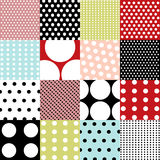 Seamless patterns, polka dot set Royalty Free Stock Image