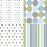 Seamless patterns, polka dots Stock Photo