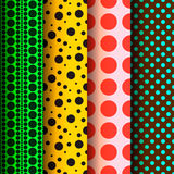 Seamless patterns, polka dots set Royalty Free Stock Photo