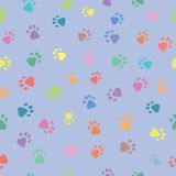 Seamless patterns with prints of animals Royalty Free Stock Images