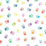 Seamless patterns with prints of animals Stock Images