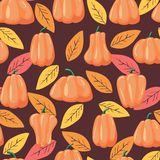 Seamless patterns pumpkin. Halloween background Vector illustration vector illustration