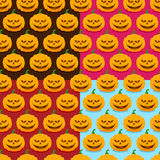 Seamless patterns with pumpkins for Halloween. Set of seamless patterns with pumpkins for Halloween Royalty Free Stock Photo