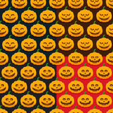 Seamless patterns with pumpkins for Halloween Royalty Free Stock Image