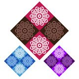 Seamless Patterns Rhombuses Royalty Free Stock Photography