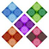 Seamless Patterns Rhombuses Stock Photo