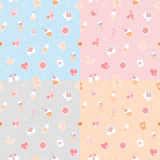 Seamless patterns of romantic items Stock Photography