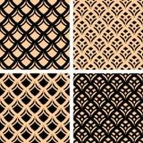 Seamless patterns set. Stock Photos