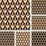 Seamless patterns set. Stock Image